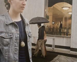Katja wearing one of my pendants. (photo by Joel Fisher)