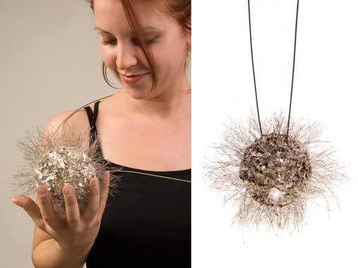 <p>fine silver, copper, plastic, stainless steel</p>